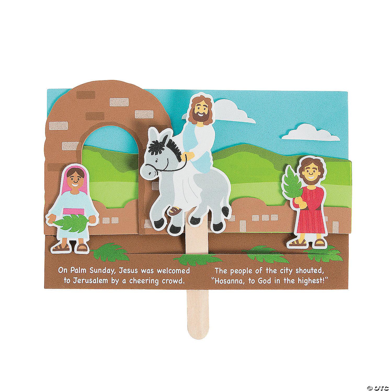 Oriental trading christian crafts - Jesus Enters Jerusalem Pop Up Craft Kit