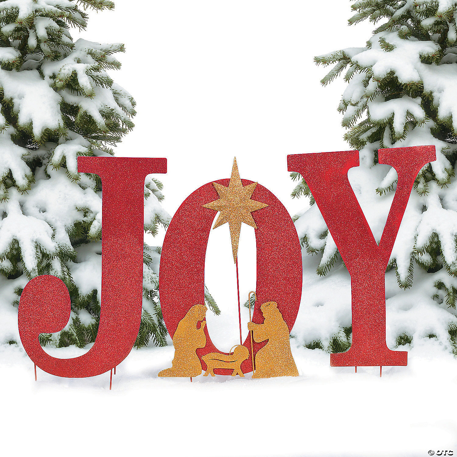 Lighted christmas duck outdoor yard decor - Joy Yard Sign