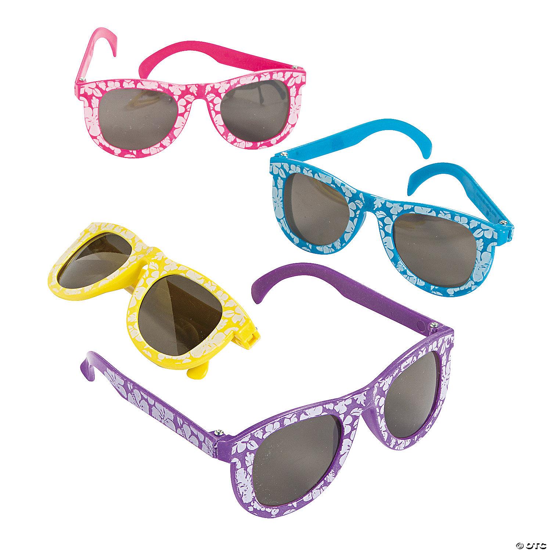 Kids\' Hibiscus Sunglasses - 12 Pc.