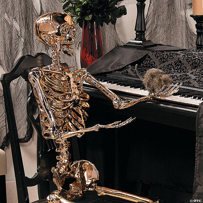 large gold posable skeleton