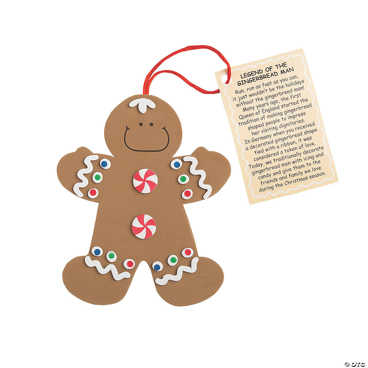 """Legend Of The Gingerbread Man"""" Christmas Ornament Craft Kit"""