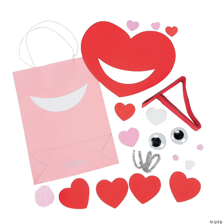 Luv Bug Valentine Card Holder Paper Bag Craft Kit