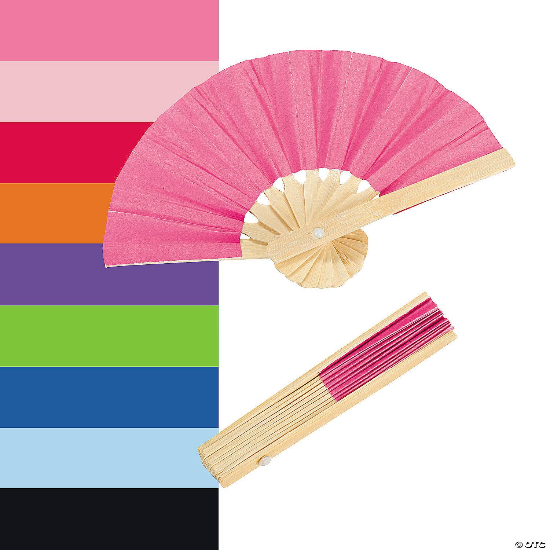 Mini Bamboo Folding Hand Fans