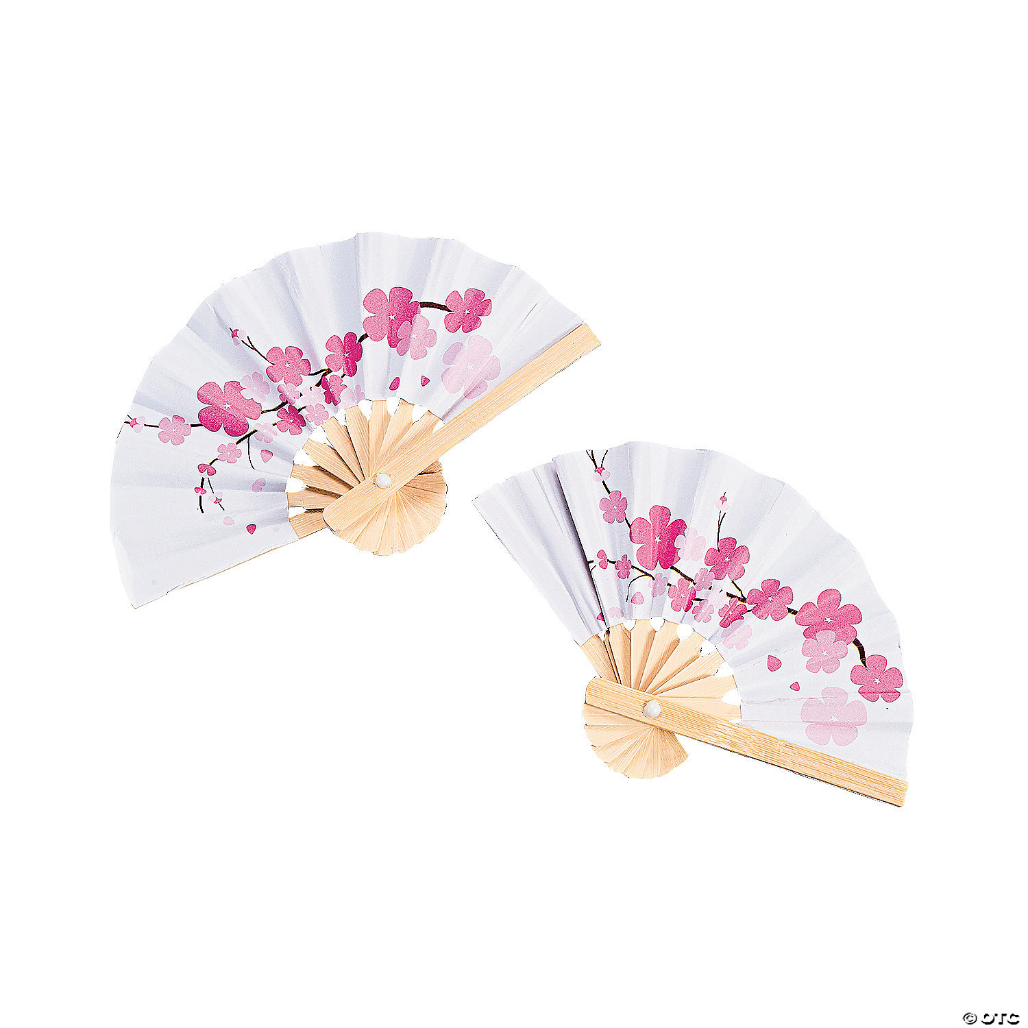 Mini Cherry Blossom Folding Hand Fans