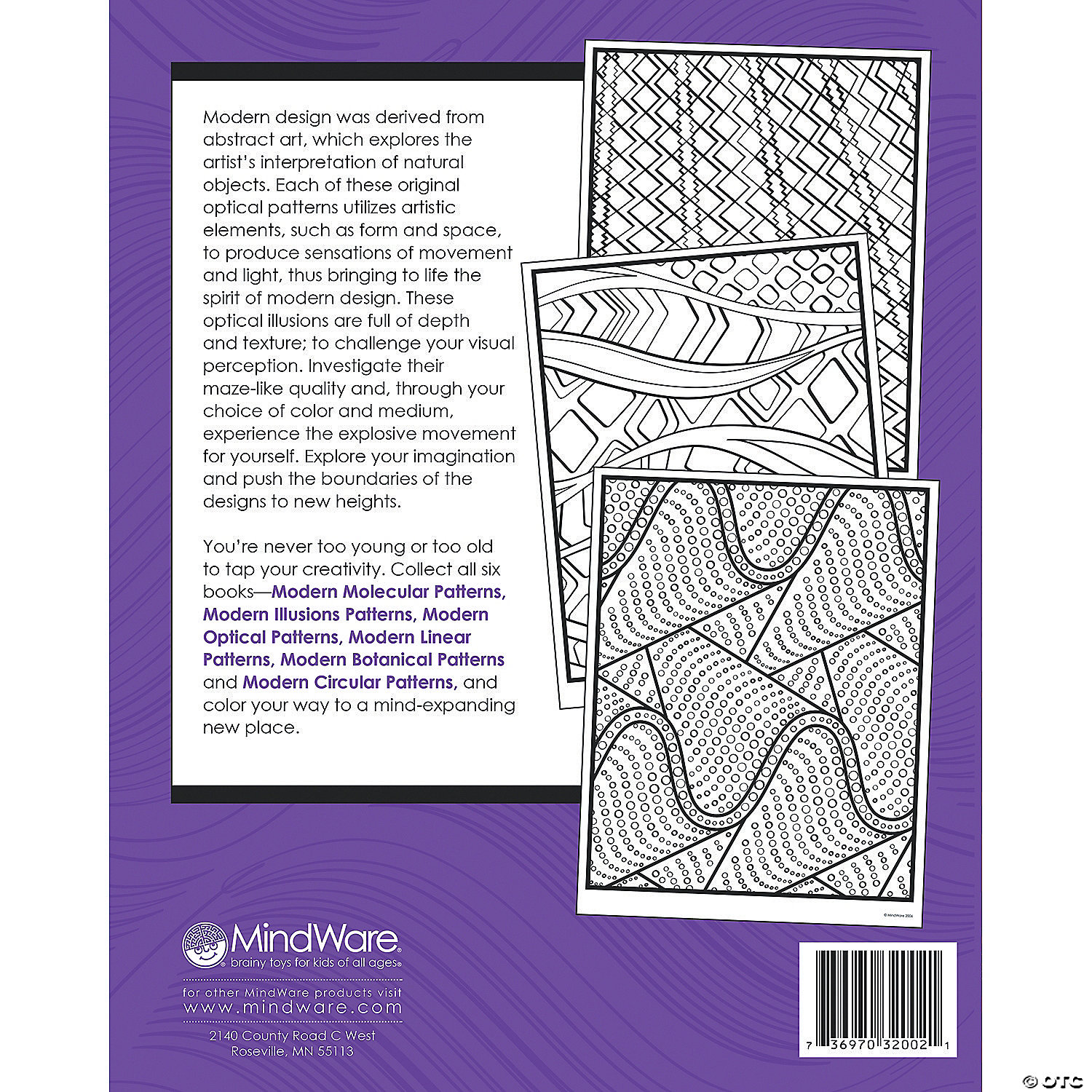 modern patterns optical coloring book - Modern Patterns Coloring Book