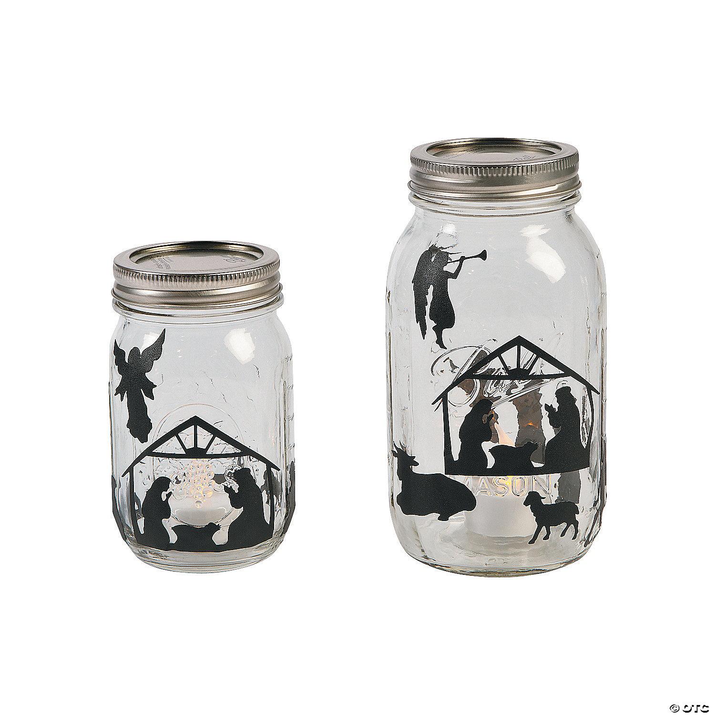 Nativity Mason Jar Decals