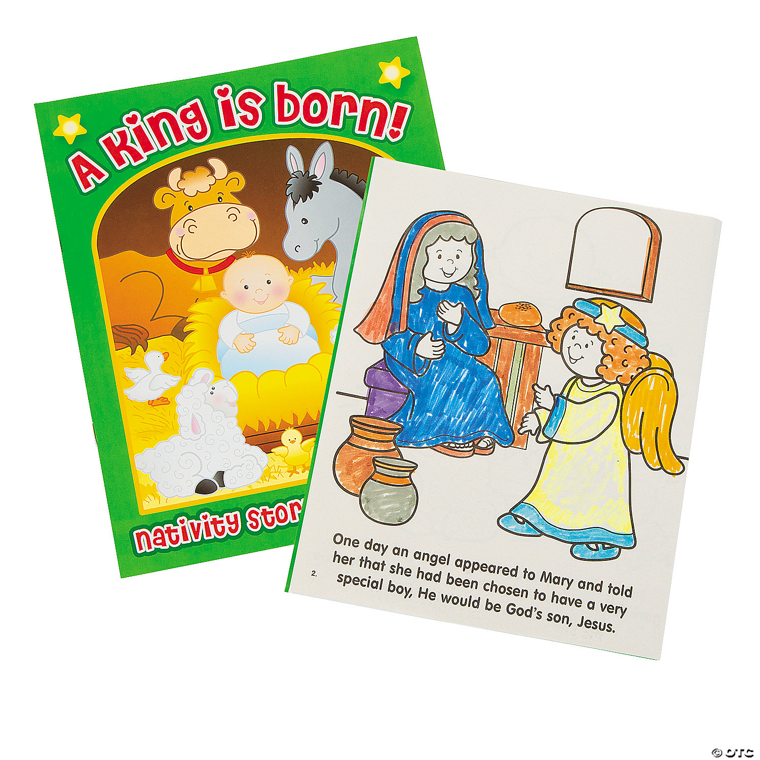 Nativity Story Coloring Books Oriental Trading