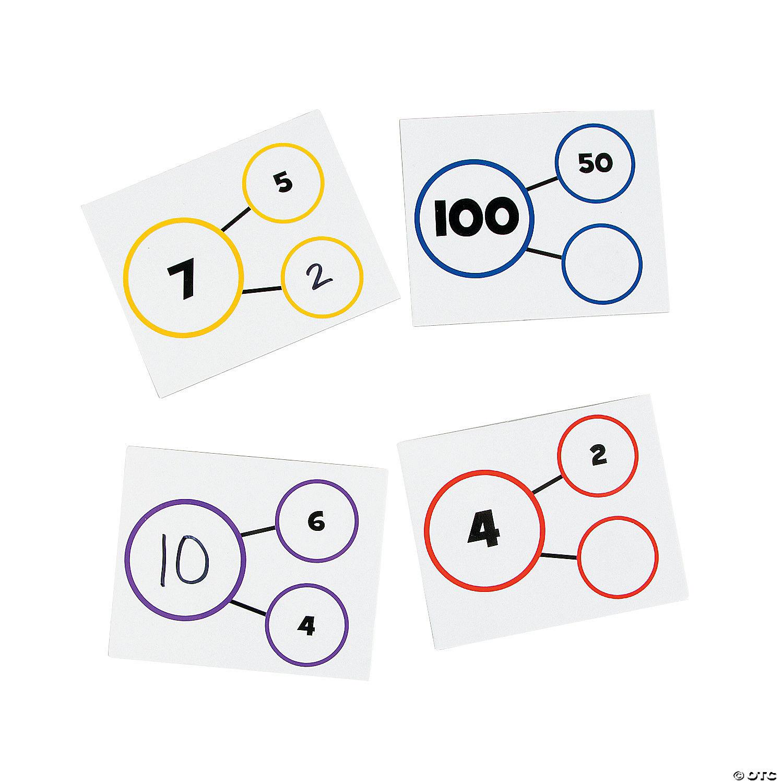 number bond dry erase card set