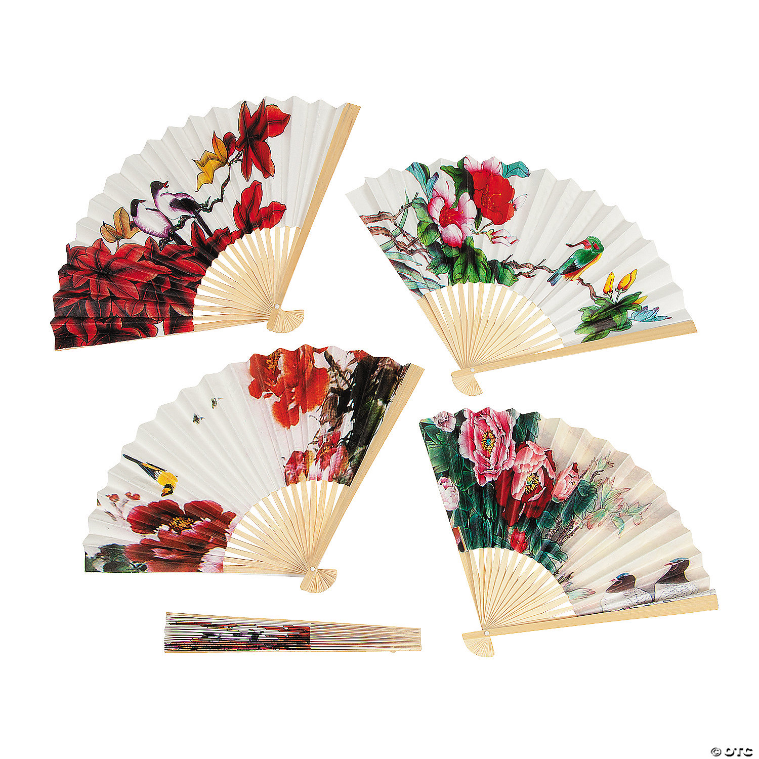 Oriental Folding Hand Fan Assortment