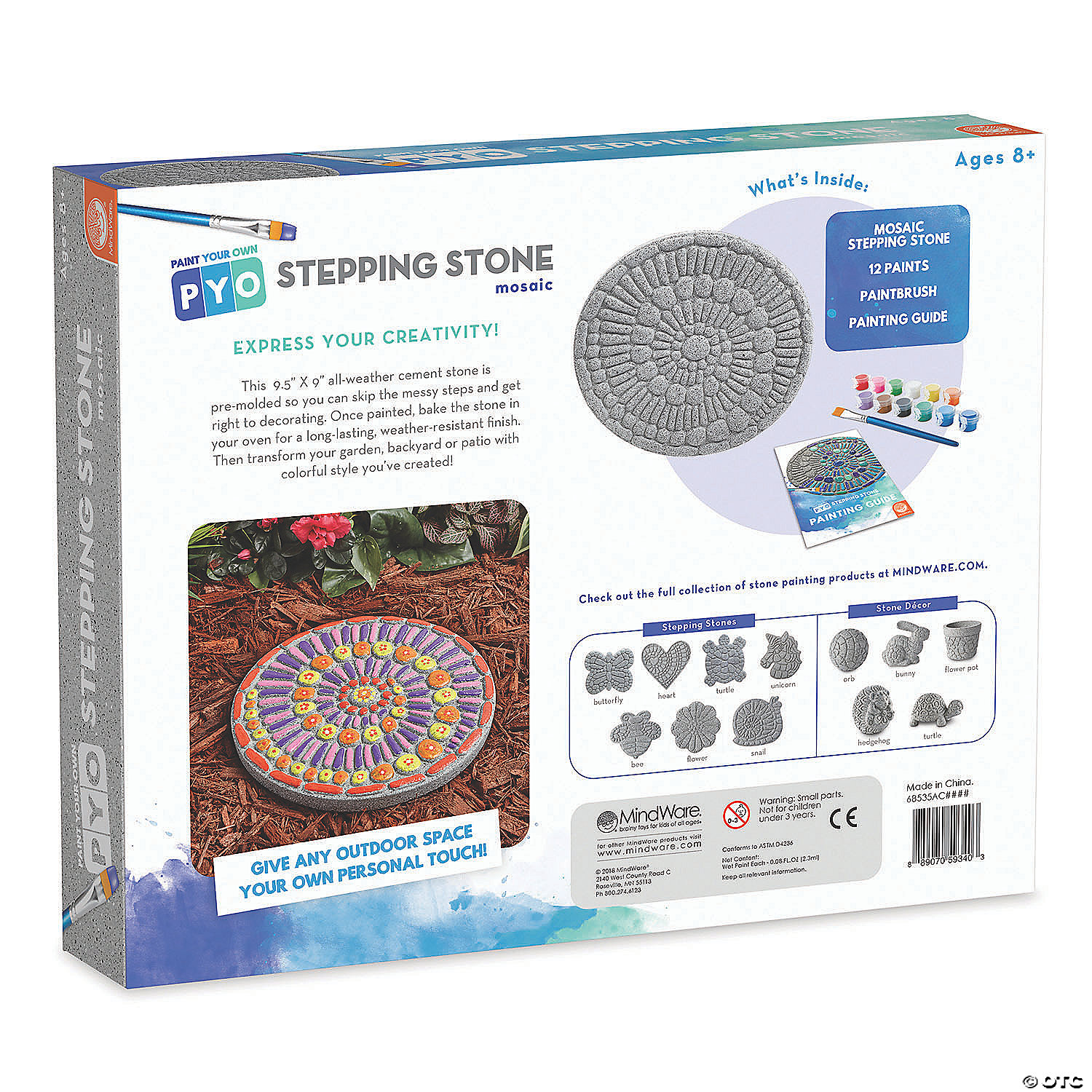 Paint your own stepping stone mosaic pronofoot35fo Images