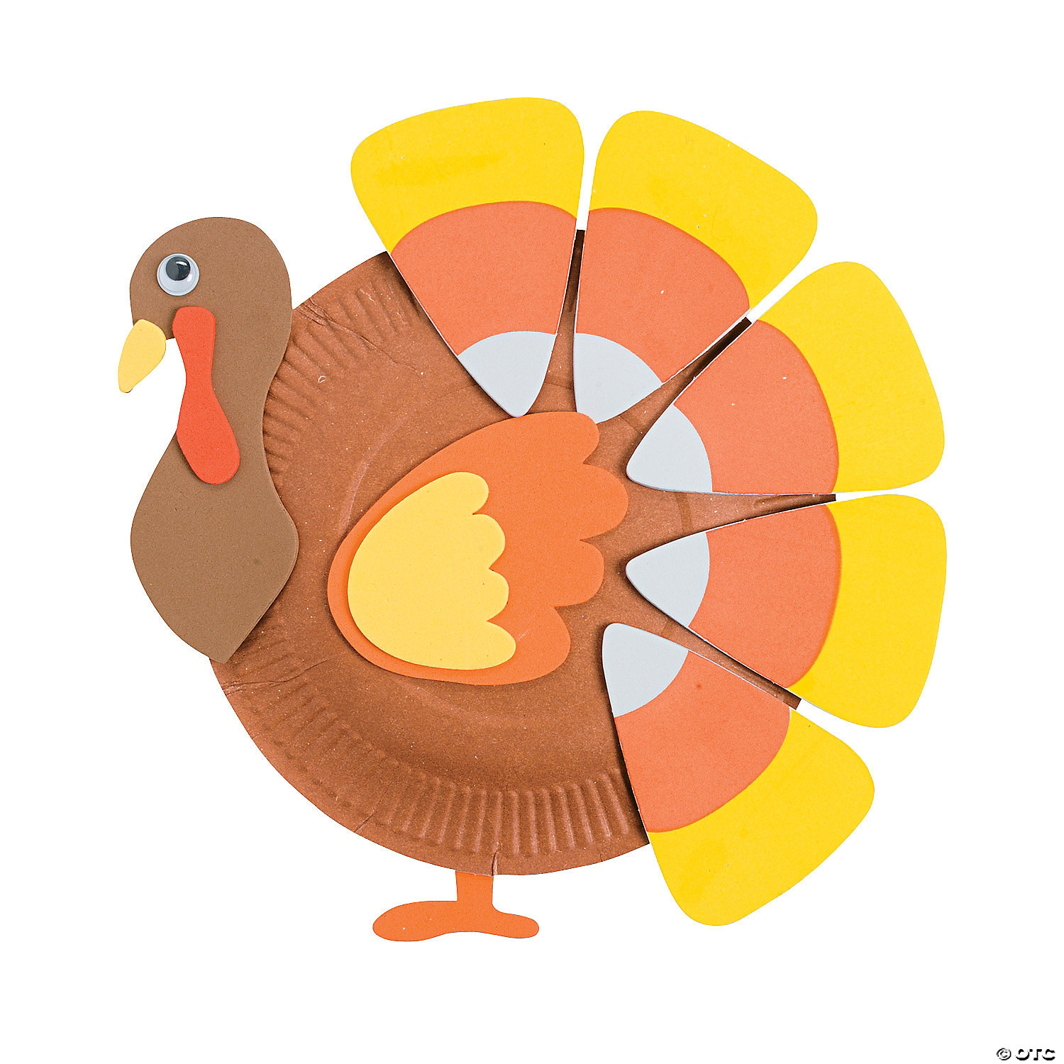 paper-plate-candy-corn-turkey-craft-kit ...  sc 1 st  Oriental Trading : turkey paper plate - pezcame.com