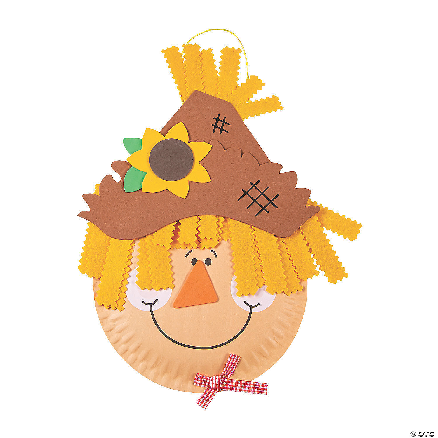paper-plate-scarecrow-craft-kit ...  sc 1 st  Oriental Trading & Paper Plate Scarecrow Craft Kit