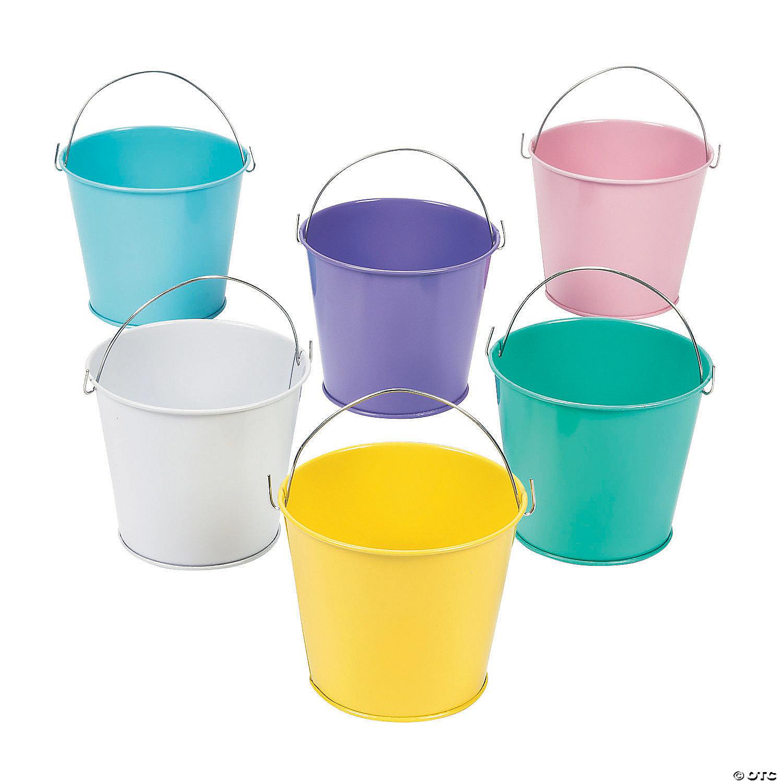 pastel color favor pails