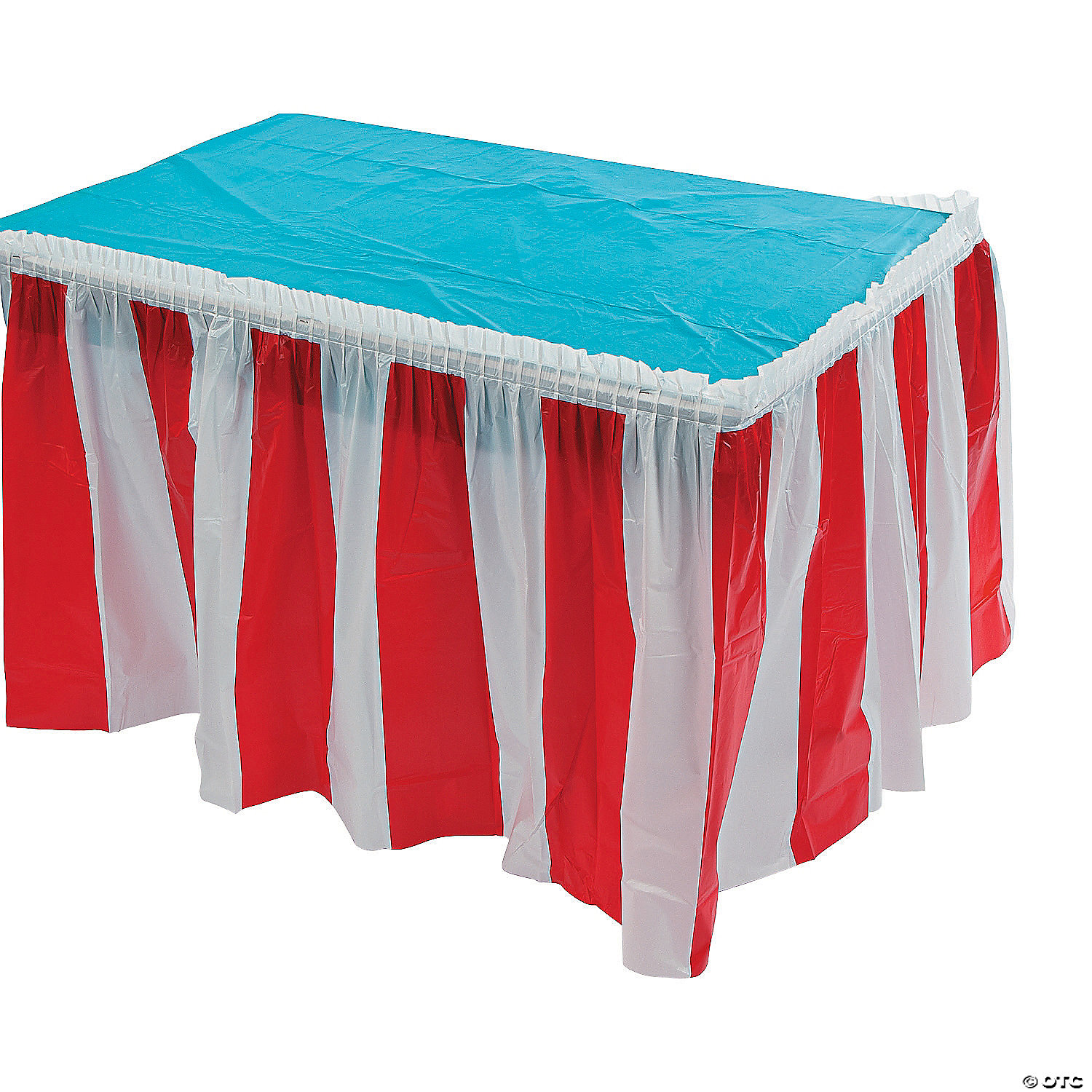 Bon Red And White Striped Table Skirt