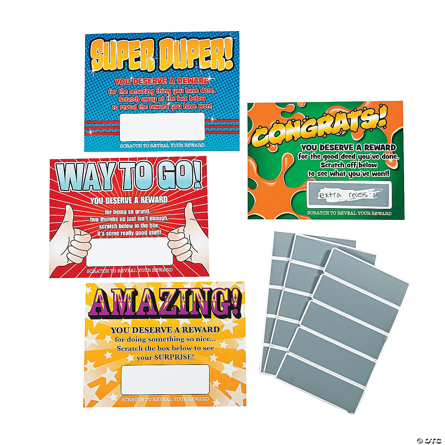 ScratchOff Reward Cards - Scratch off us state maps with pencil 25 pack