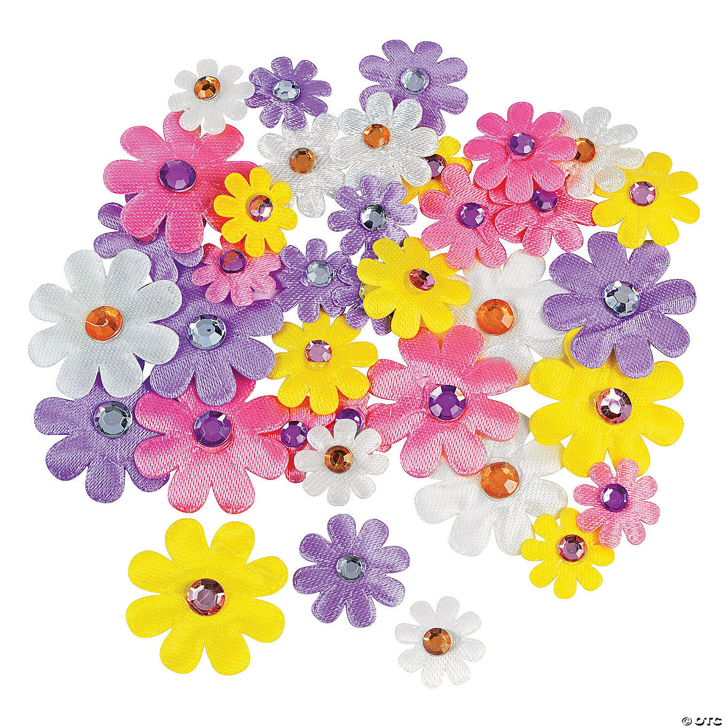 Arts and crafts jewels - Self Adhesive Daisies With Jewel Center