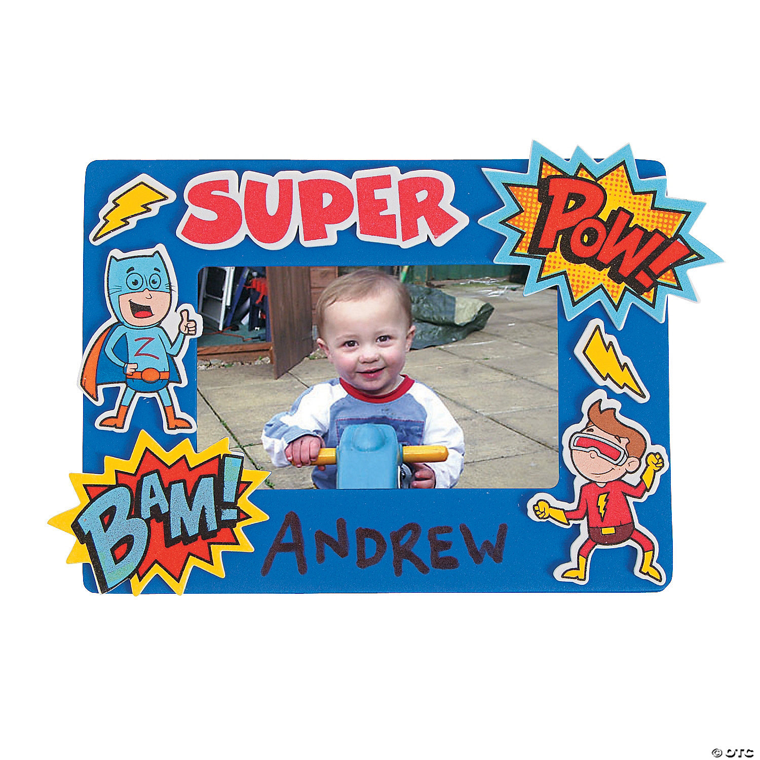 Photo crafts picture frame crafts photo magnets picture frame superhero picture frame craft kit jeuxipadfo Gallery