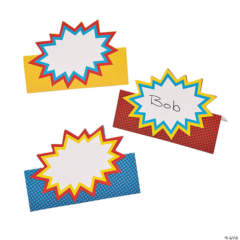 superhero place cards