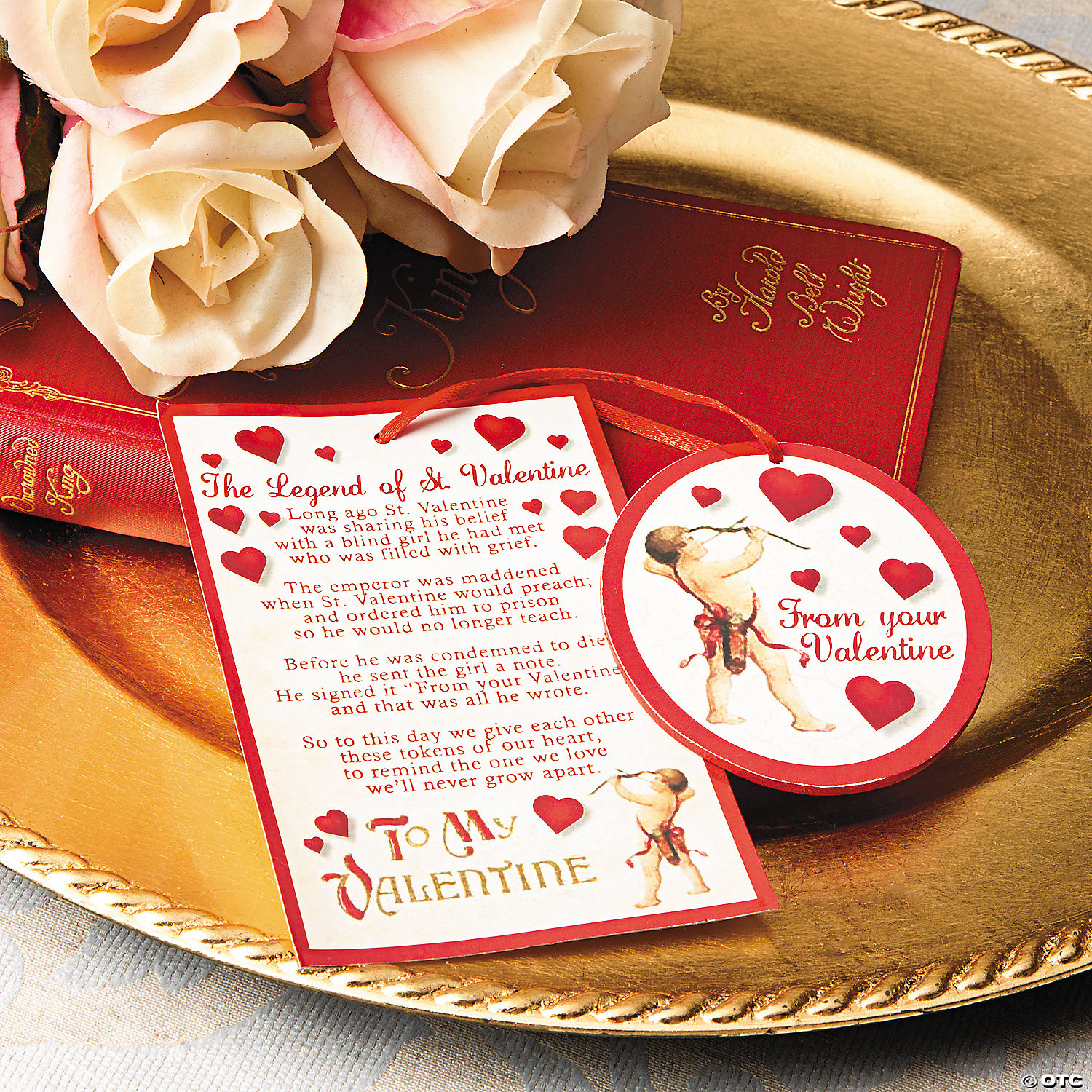 The Legend of St Valentine Ornaments on Cards – St Valentines Cards