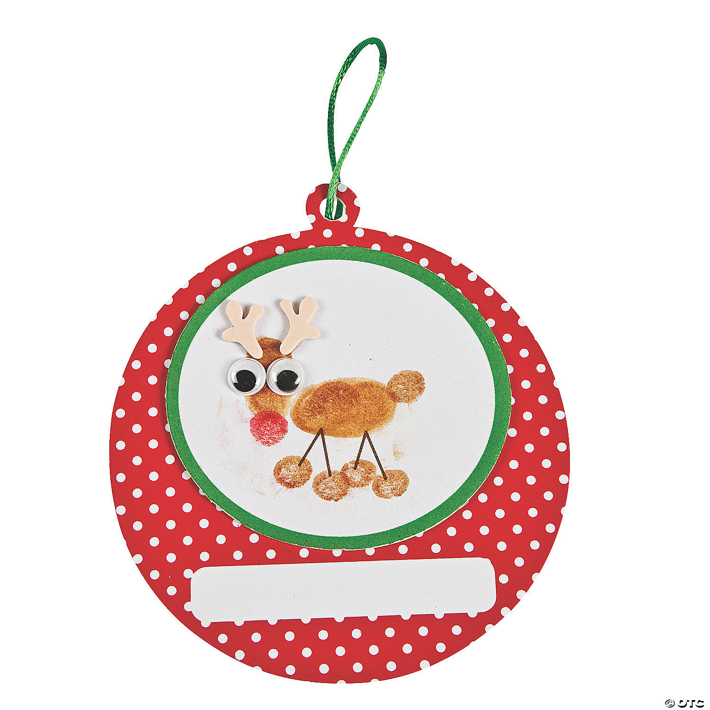 Christmas ornament craft kit - Thumbprint Reindeer Christmas Ornament Craft Kit