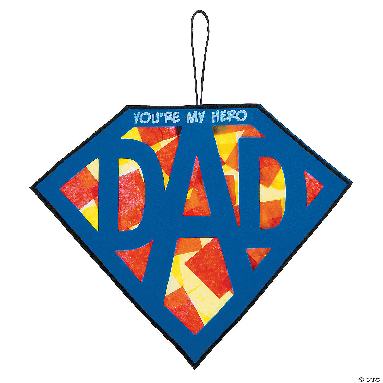 Oriental trading christian crafts - Tissue Paper Super Dad Sign Craft Kit