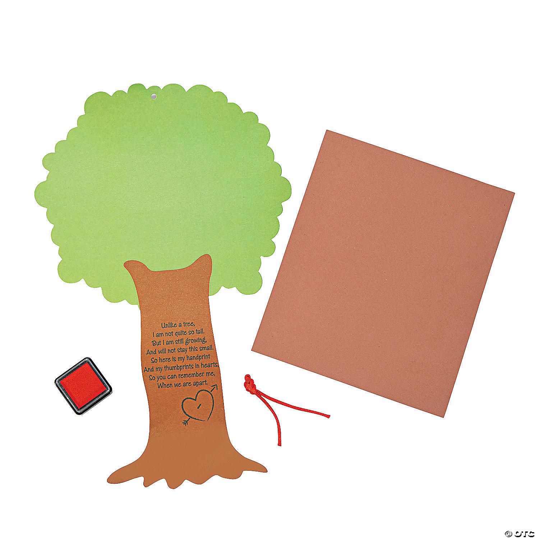 valentine tree thumbprint poem craft kit