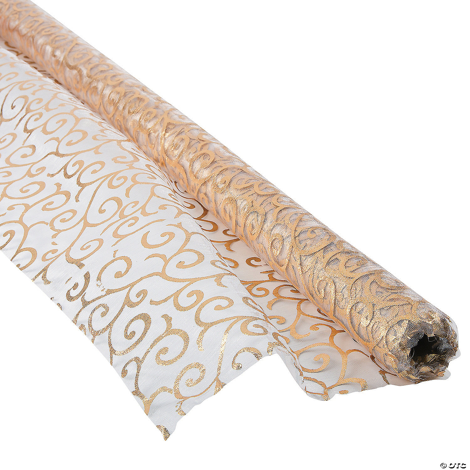 VICTORIAN GOLD PRINTED FABRIC ROLL - Marry Me Oriental Trading
