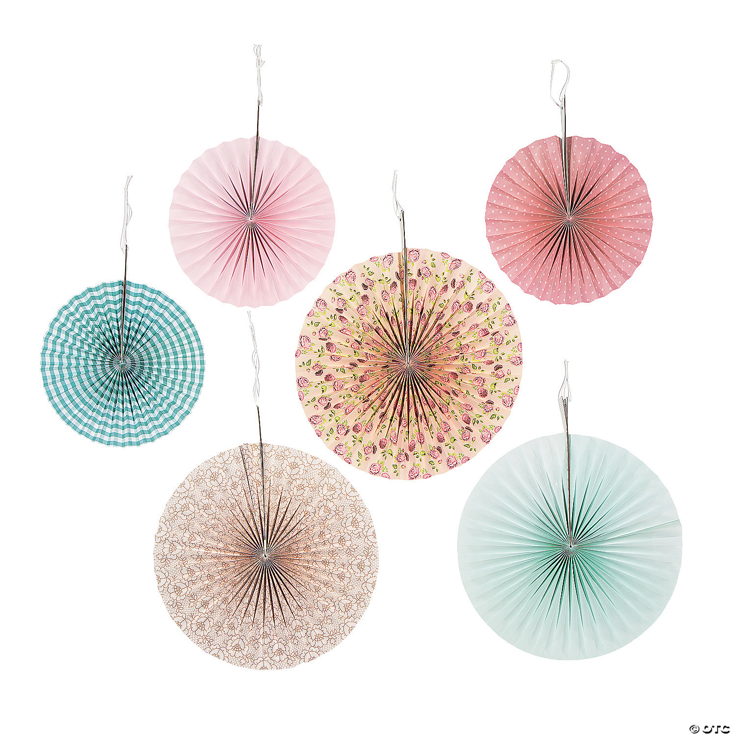 vintage collection hanging paper fan decorations - Decorations