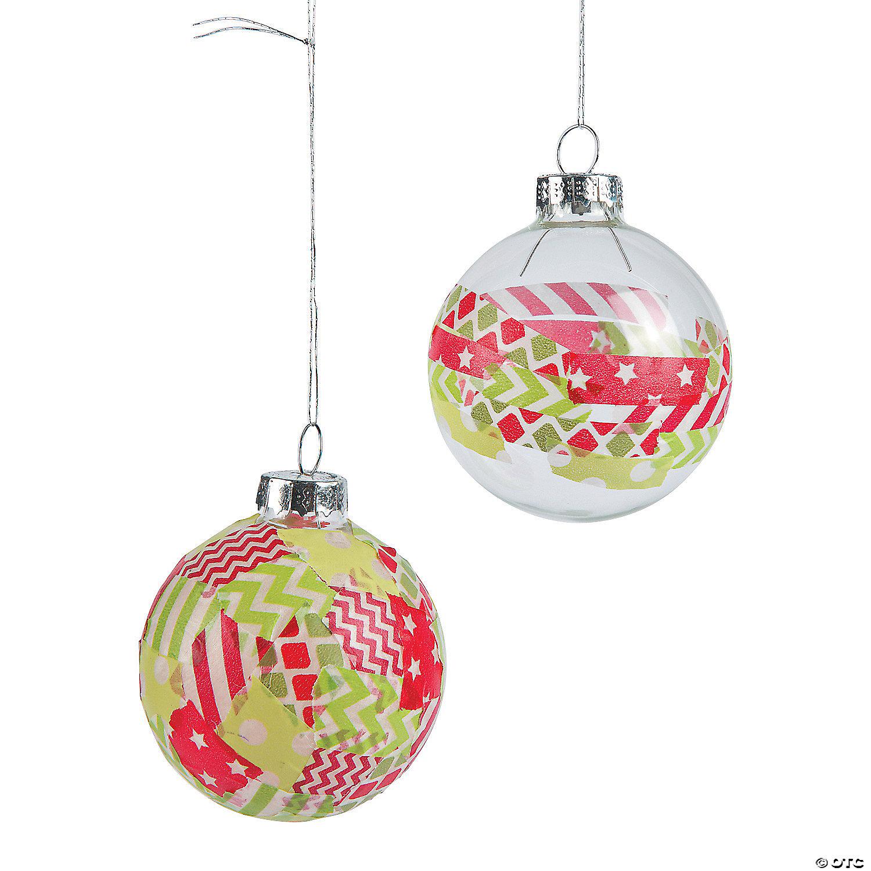Washi Tape Christmas Ornament Idea