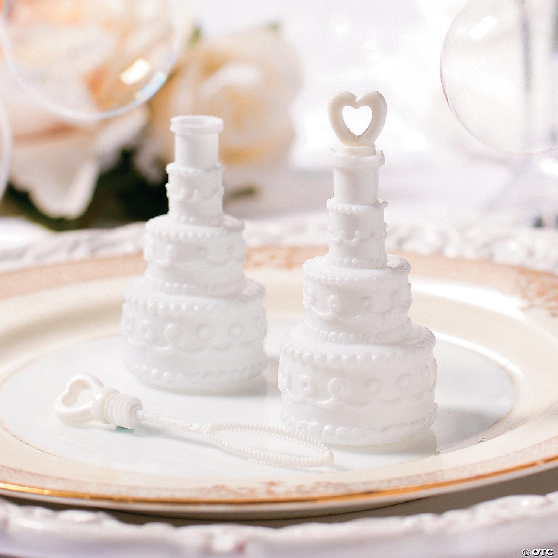Wedding Cake Bubble Bottles