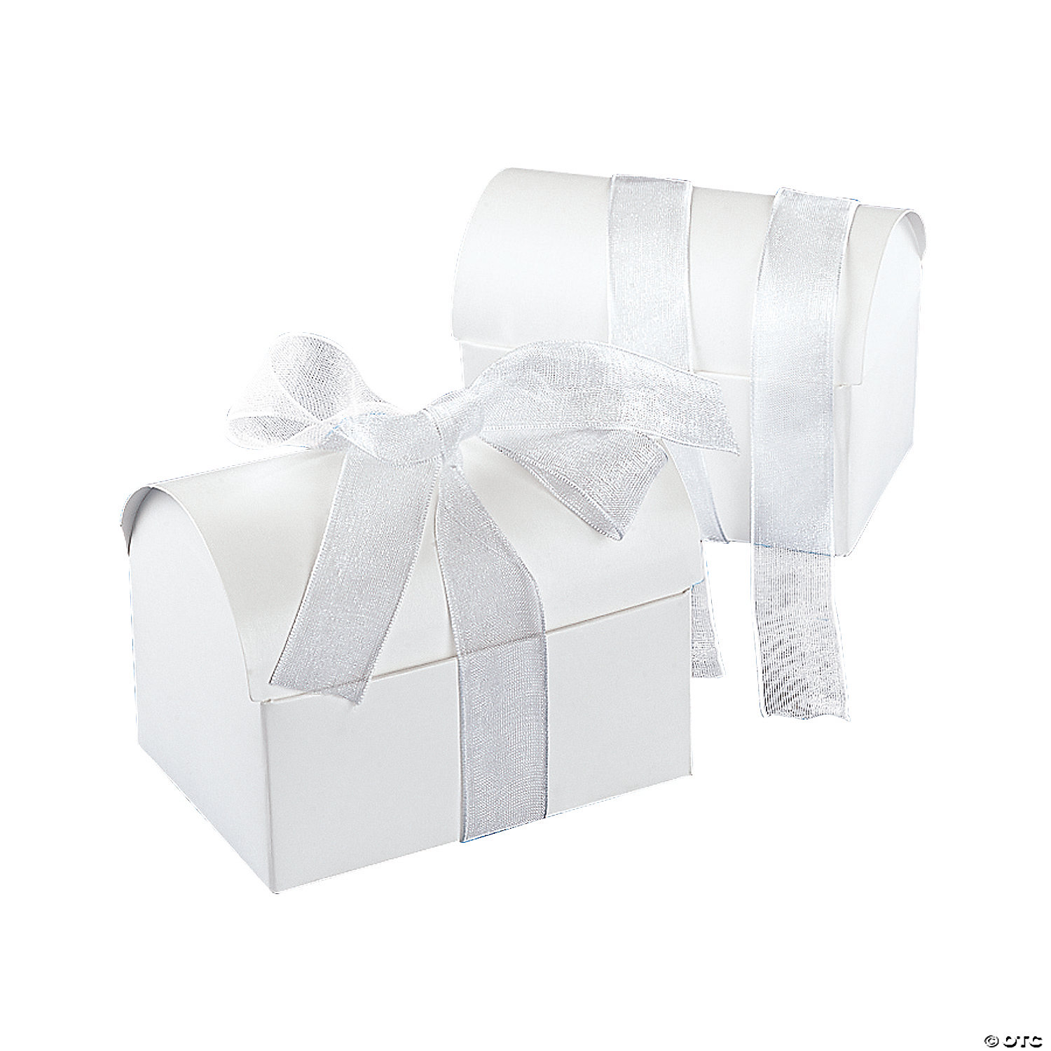 Wedding Chest Favor Boxes with White Bow
