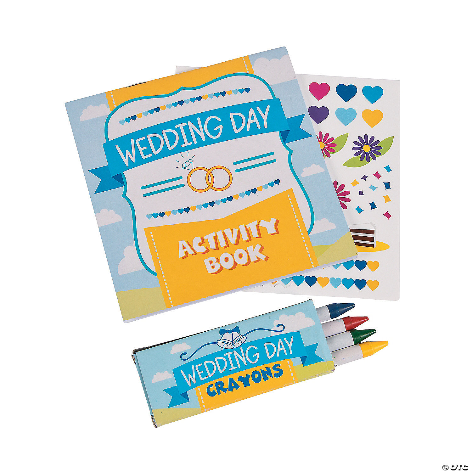 Kids Calendar With Activity Stickers : Wedding day activity books with stickers crayons