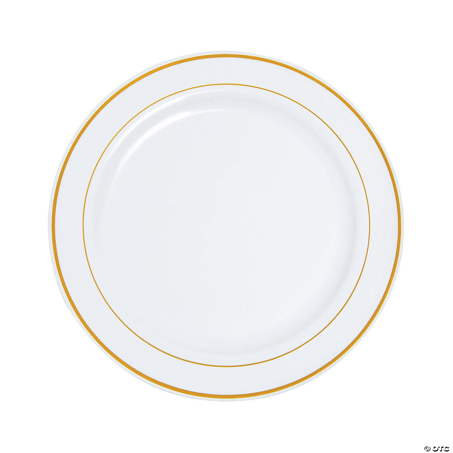 white-plastic-dinner-plates-with-gold-edging ...  sc 1 st  Oriental Trading & White Plastic Dinner Plates with Gold Edging