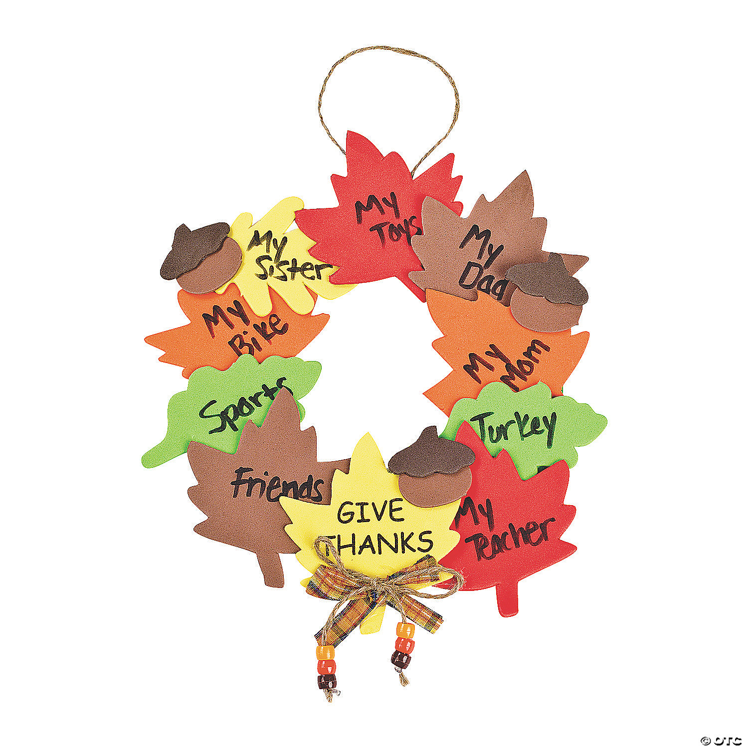 Oriental trading christian crafts - Wreath Of Thanks Craft Kit