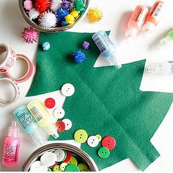 Felt Christmas Tree Kids Craft