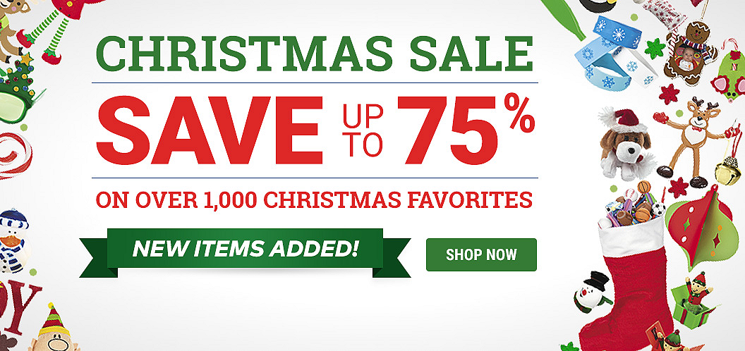 Christmas Sale - SAVE up to 75