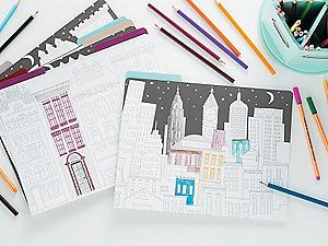 Color Your Own Stationery