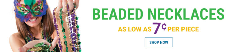 Beaded Necklaces as low as 9 cents per piece - shop now