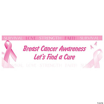 Personalized Breast Cancer Awareness Banner - Medium