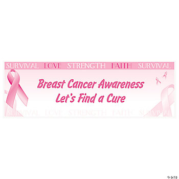 Personalized Breast Cancer Awareness Banner — Small
