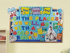 Dr Seuss Teaching Supplies Dr Seuss Bulletin Board Cat
