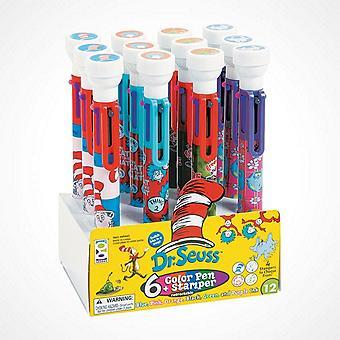 Dr. Seuss? 6-Color Shuttle Pens with Stamper