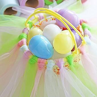 Colorful DIY Tutu Easter Basket