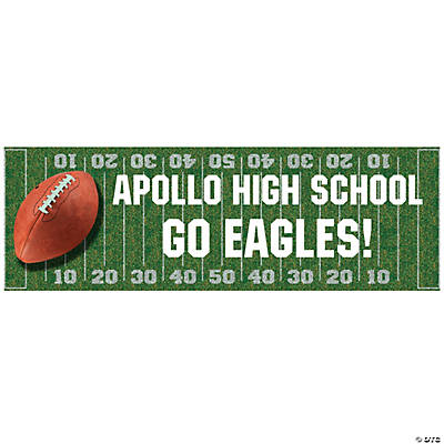 Personalized Football Field Banner   (SM)