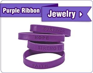 Purple Ribbon Jewelry - Shop Now