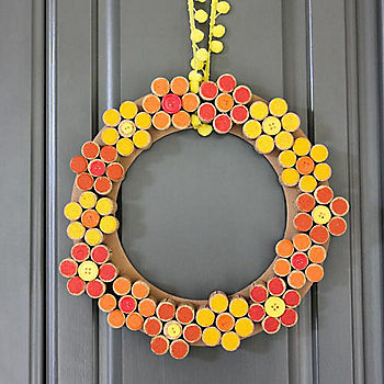 Flower Wine Cork Wreath DIY