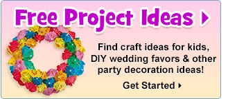 Free Project Ideas - Find craft ideas for kids, DIY wedding favors & other party decoration ideas!