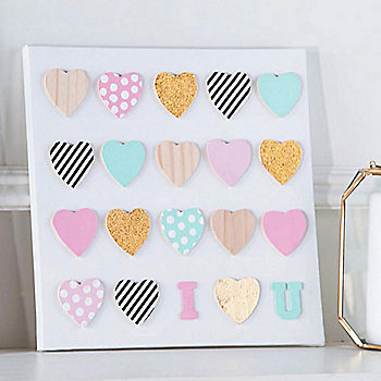 DIY Mini Wooden Heart Canvas