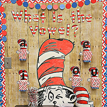 Cat in the Hat Vowel Bulletin Board