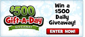 Gift-a-day Giveaway - Win a $500 Daily Giveaway! - Enter Now